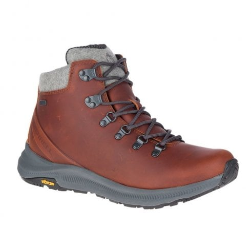 Merrell Mens Ontario Thermo Mid Waterproof Boots - Brown