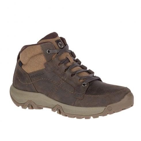 Merrell Mens Anvik Pace Mid Waterproof Boots - Dark Brown