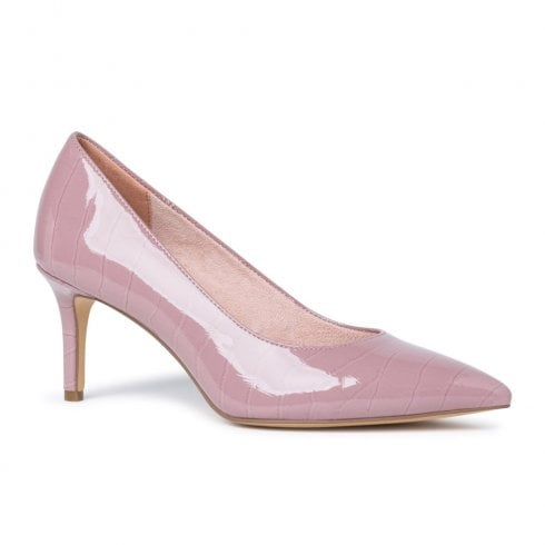 Tamaris Womens Mauve Patent Court Pointed High Heels