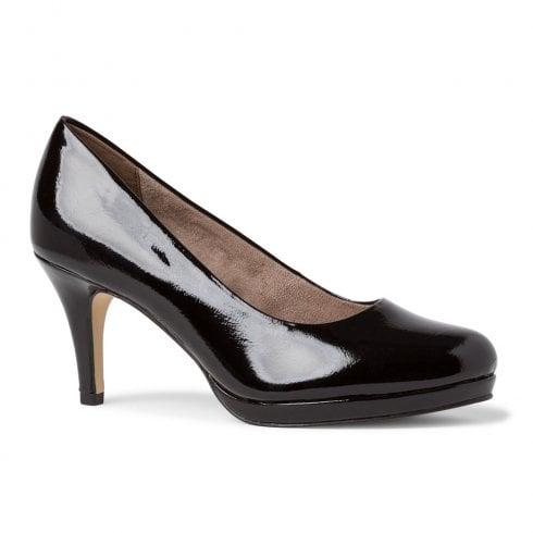 Tamaris Womens Black Patent Court High Heels