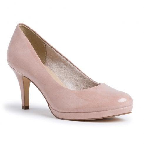 Tamaris Womens Old Rose Patent Court High Heels