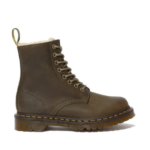 Dr. Martens Dr Martens Womens Serena Fur Lined Boots - Olive Wyoming