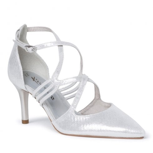 Tamaris Womens Silver Pointed High Heels