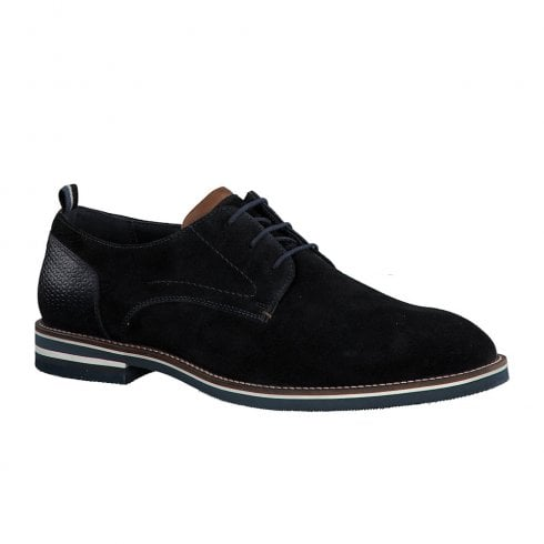 S Oliver S.Oliver Mens Suede Casual Laced Shoes - Navy
