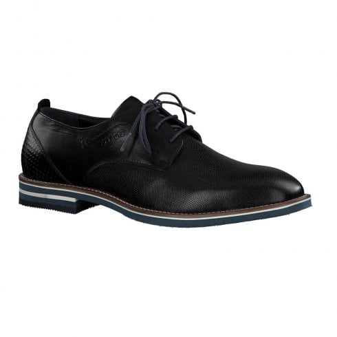 S.Oliver Mens Leather Smart Laced Shoes - Black