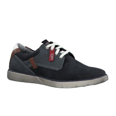 S.Oliver Mens Suede Casual Laced Shoes - Navy