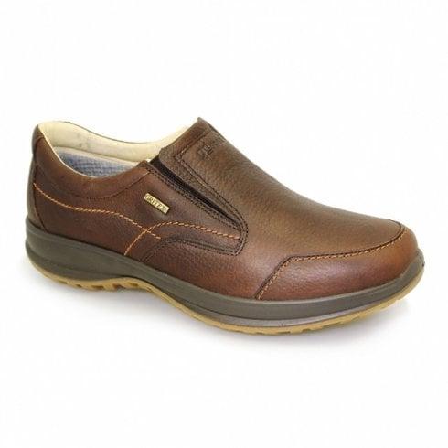 Grisport Melrose Mens Brown Leather Waterproof Slip On Shoe