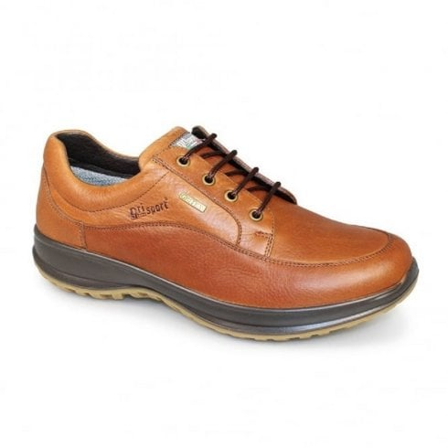 Grisport Livingston Mens Tan Leather Comfort Laced Shoe