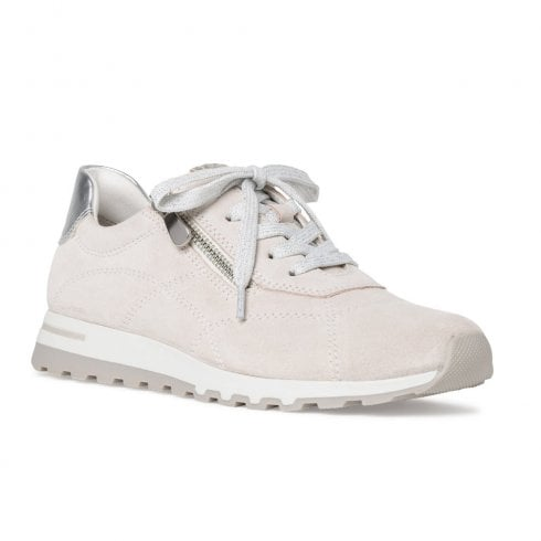 Marco Tozzi Women's Suede Sneakers Shoes - Off White