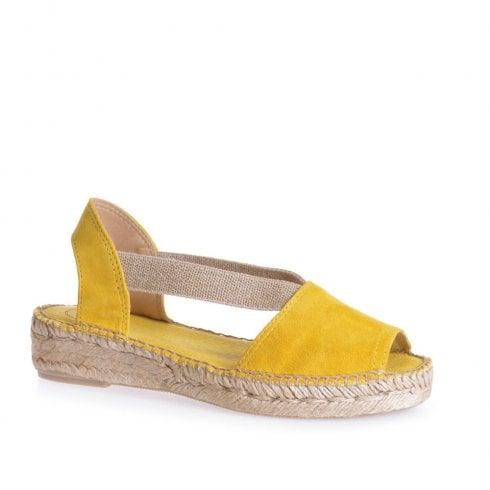Toni Pons Ella Slingback Flat Suede Espadrille Sandals - Yellow