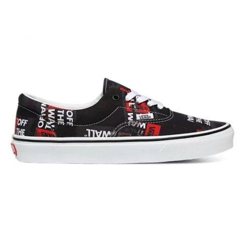 Vans Classics UA Era Packing Tape Black Red Sneakers