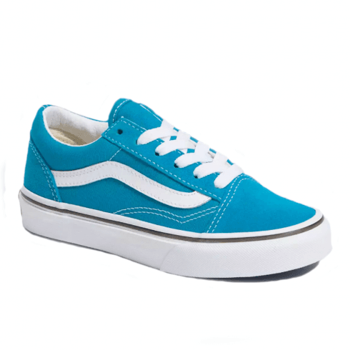 Vans Kids Classic JN Old Skool Caribbean Sea/True White Sneakers