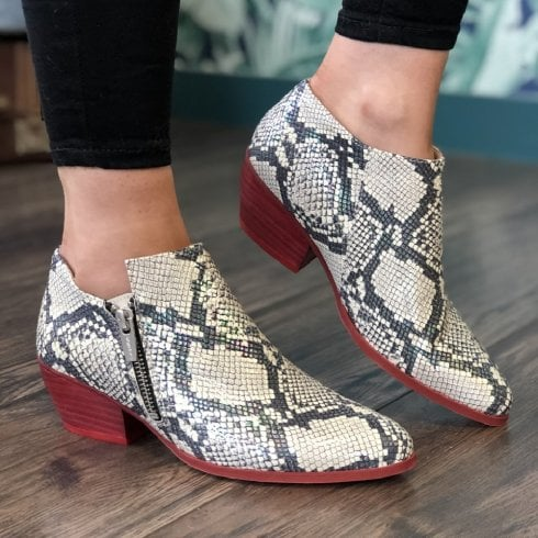 Wonders Womens Snake Print Ankle Boots - E-6034