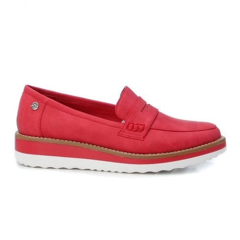 XTI Womens Red Loafers - 44020