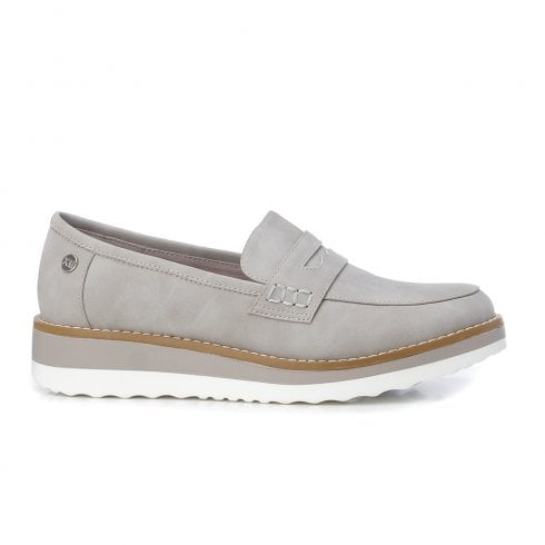 XTI Womens Grey Loafers - 44020