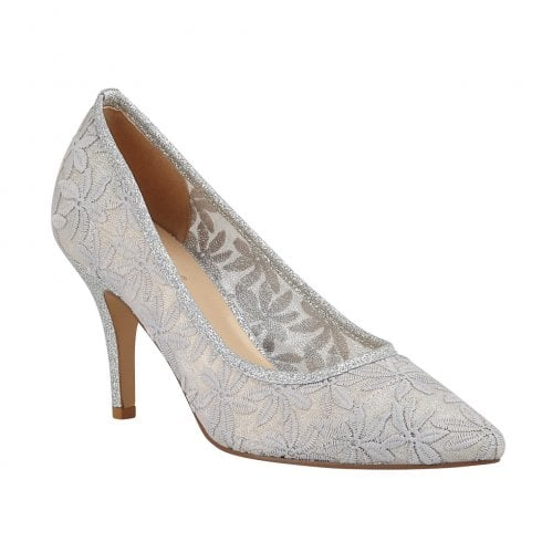 Lotus Briony Silver Court High Heeled Shoes