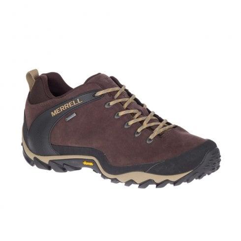 Merrell Mens CHAM 8 LTR GTX Espresso Brown Hiking Trainers - J034271
