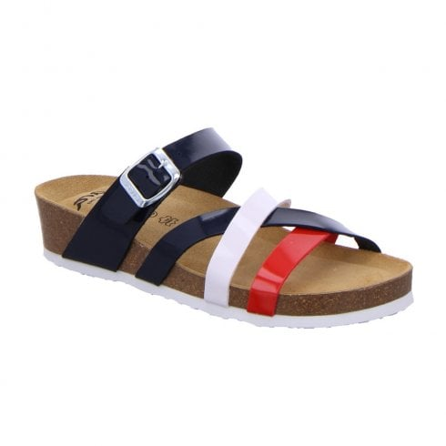 Ara Womens Bali Multi Flat Mule Sandals
