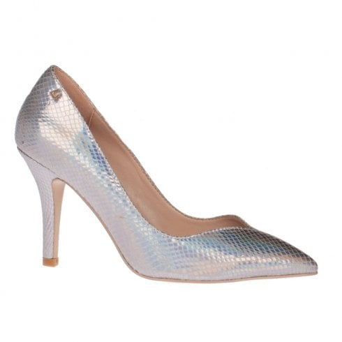 Una Healy Take It Easy Mermaid Pearl Silver High Heel Pointed Court Shoes