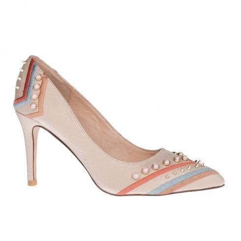 Una Healy You Needed Me Taffy Jewel Beige High Heel Court Shoes