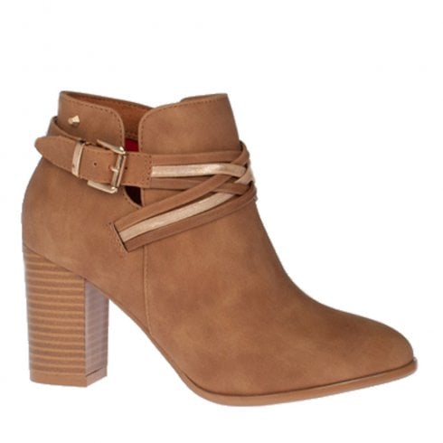 Kate Appleby Carnlough Suede Heeled Boots - Fudge Tan