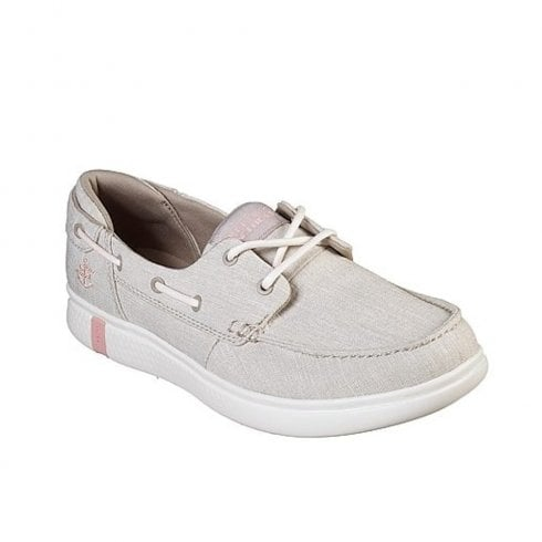 Skechers Womens On the GO Glide Ultra Beige Slip On Boat Shoes -16113