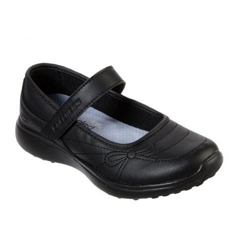 Skechers Kids Microstrides School Sweetheart Black Mary Jane Shoes