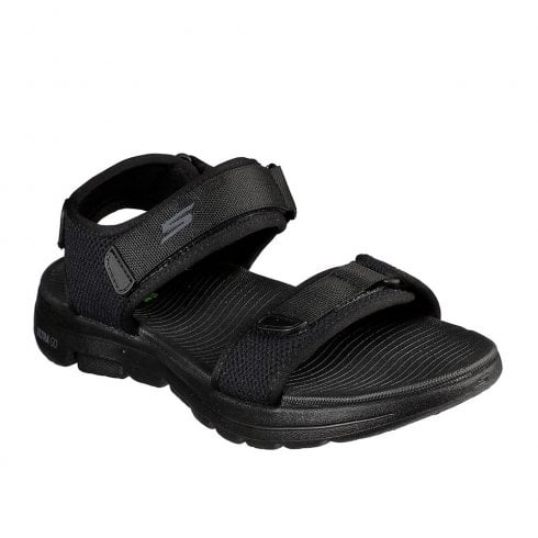 Skechers Mens GOwalk 5 Cabourg Black Casual Velcro Sandals