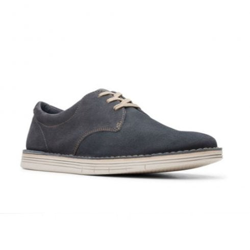 Clarks Mens Forge Vibe Blue Storm Suede Casual Lace Up Shoes