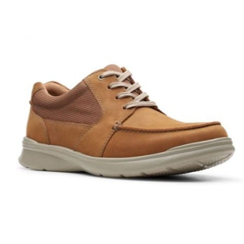Clarks Mens Cotrell Lane Tan Leather Casual Lace Up Shoes