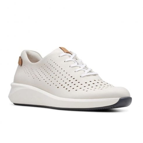 Clarks Womens Low-Top Sneakers Beige White White