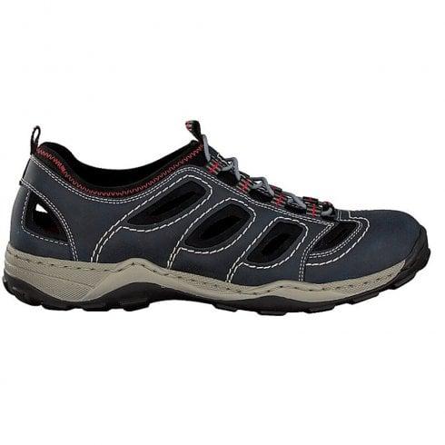 Rieker Mens Blue Slip On Walking Style Shoes