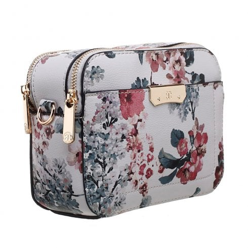 Bessie London Womens Red Floral Print Camera Bag - BL4269