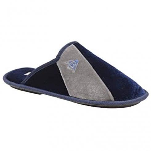 Dunlop Mens Dunkirk Navy/Grey Mule Slipper