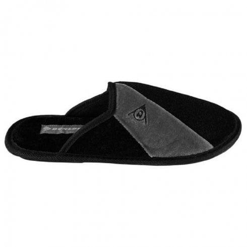 Dunlop Mens Dunkirk Black/Grey Mule Slipper