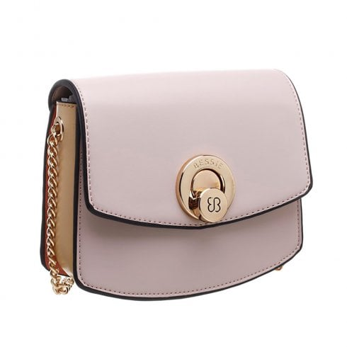 Bessie London Womens Pink Two Tone Special Twist Lock Cross Body Bag - BW4358