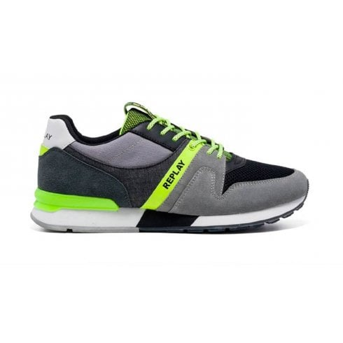 Replay Mens Tigher Trainer - Grey Black