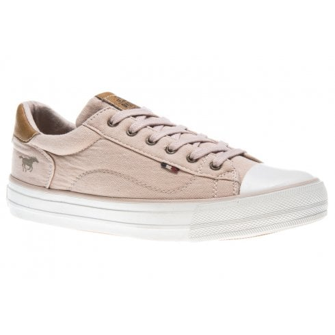 Mustang Ladies Rose Canvas Trainers - 1272-301