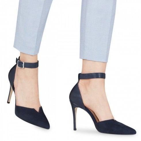 Tamaris Elegant Ankle Strap Court Shoes - Dark Navy