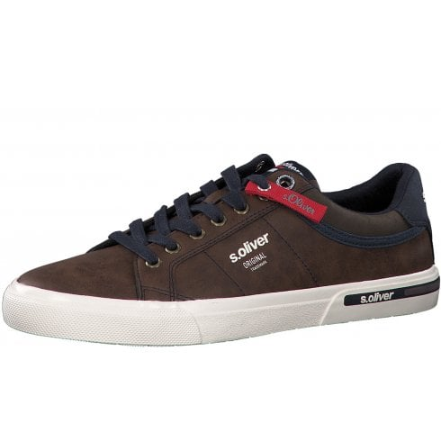 S Oliver S.Oliver Mens Casual Laced Trainer Shoes - Brown