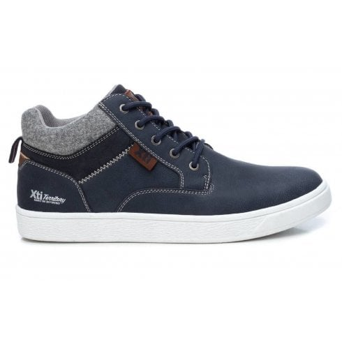 XTI Mens Lace Up Ankle Boot - Navy