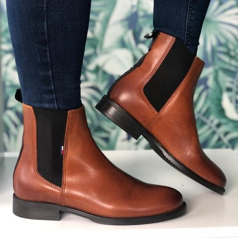 Tommy Hilfiger Tan Essential Dressed Chelsea Boot