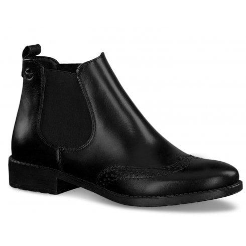 Tamaris Ladies Black Chelsea Ankle