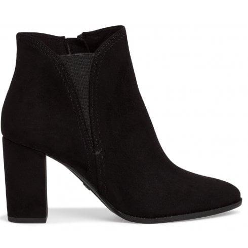 Tamaris Ladies Black Suede Ankle Boots