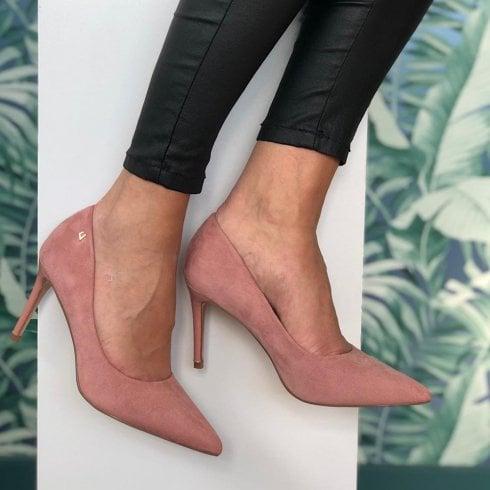 Una Healy Moon River Pink High Heel Court Shoes