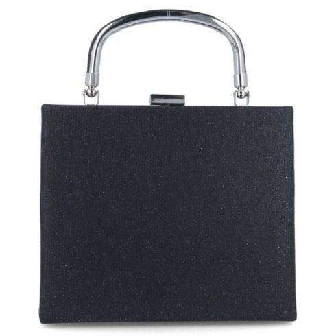 Menbur Black Glitter Handbag