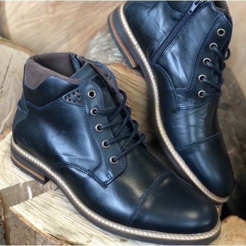 Lloyd & Pryce - Tommy Bowe Lloyd & Pryce Mens Clarkson Storm Navy Lace Up Ankle Boots