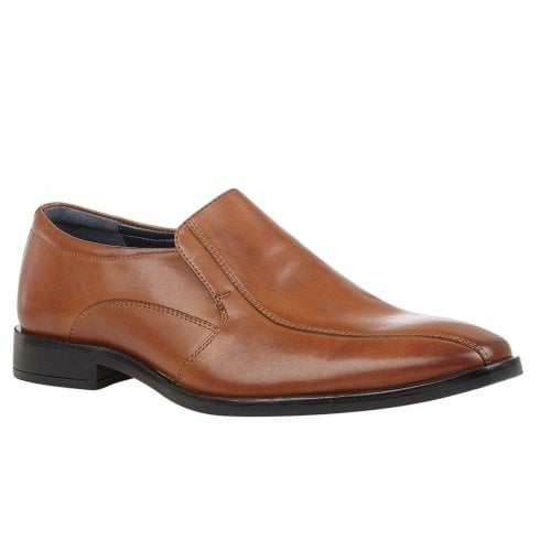 Lotus Mens Gerald Tan Leather Slip On Loafers