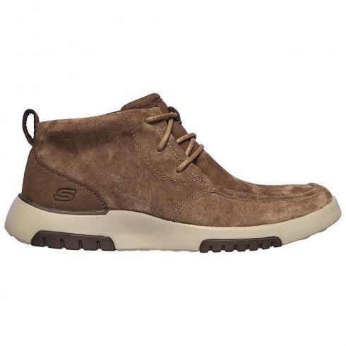 Skechers Mens Bellinger 2.0 - Trembo Brown Suede Shoe Boots