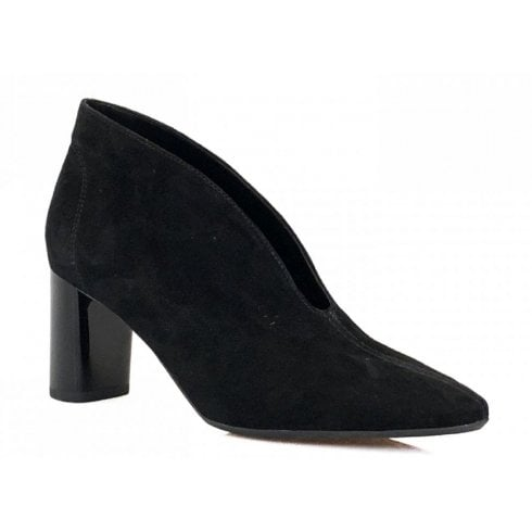 Ara Ladies Black Suede V Front Shoe Boot